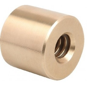 Nakrętka cylindryczna brąz Tr12x3 prawa