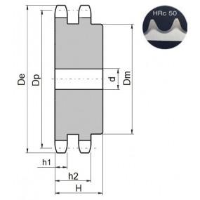 Koło łańcuchowe 12B-2-z30 zęby hart.