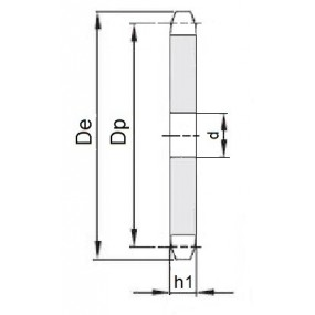 Koło łańcuchowe bez piasty 04-1-z80 (6x2,8mm)