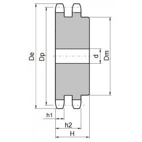 Koło łańcuchowe 05B-2-z15 (8x3mm)