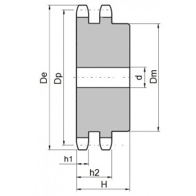 Koło łańcuchowe 08B-2-z10 (1/2)