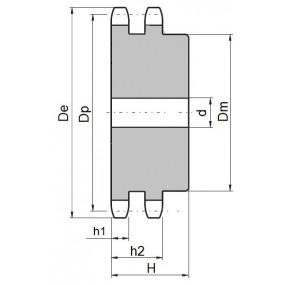 Koło łańcuchowe 08B-2-z16 (1/2)