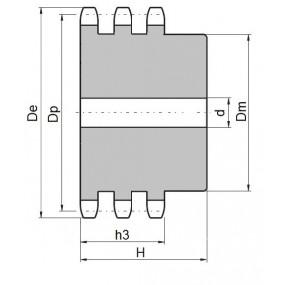 Koło łańcuchowe 08B-3-z16 (1/2)