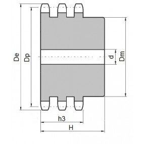 Koło łańcuchowe 08B-3-z17 (1/2)