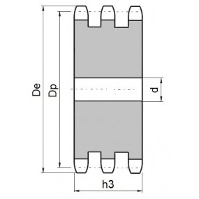Koło łańcuchowe bez piasty 10B-3-z125 (5/8)