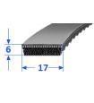 Pas szerokoprofilowy SVX 17x6 802 CONTI