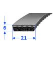 Pas szerokoprofilowy SVX 21x6 970 OPTIBELT