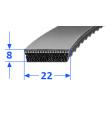 Pas szerokoprofilowy SVX 22x8 610 OPTIBELT