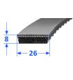 Pas szerokoprofilowy SVX 26x8 750 OPTIBELT